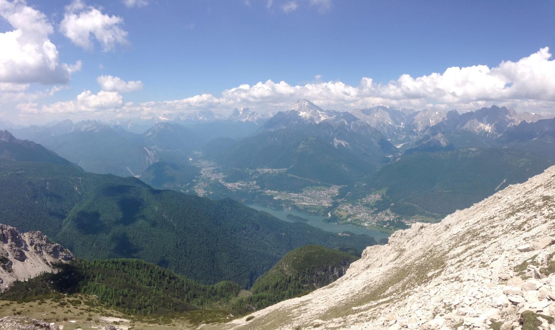 vista da cima Montanel