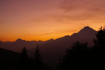 tramonto dall'eremo dei romiti