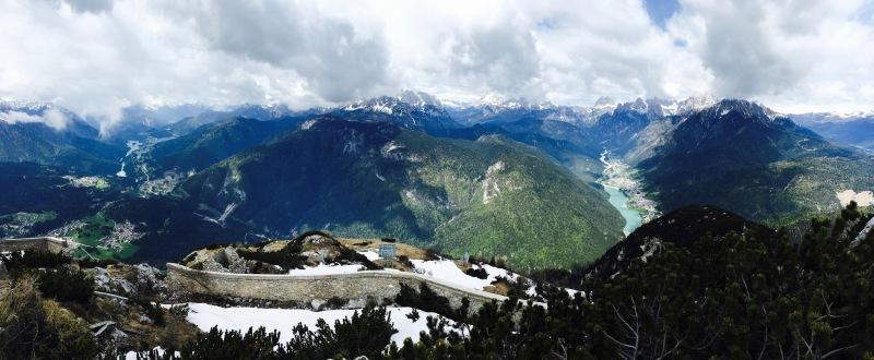 valli del Centro Cadore e di Auronzo viste dal m.Tudaio