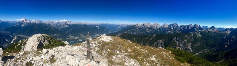 panorama dalla cima del Picco di Roda